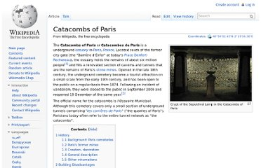 http://en.wikipedia.org/wiki/Catacombs_of_Paris