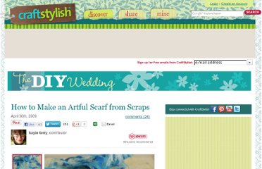http://www.craftstylish.com/item/46558/how-to-make-an-artful-scarf-from-scraps
