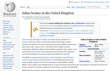 http://en.wikipedia.org/wiki/Inline_hockey_in_the_UK