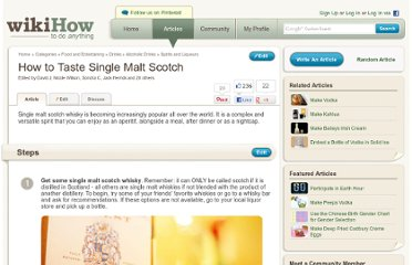 http://www.wikihow.com/Taste-Single-Malt-Scotch