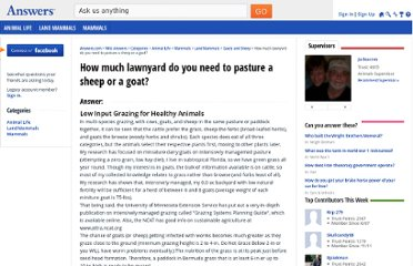 http://wiki.answers.com/Q/How_much_lawnyard_do_you_need_to_pasture_a_sheep_or_a_goat