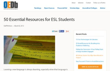http://oedb.org/library/beginning-online-learning/50_essential_resources_for_esl_students