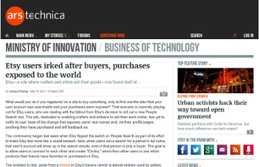 http://arstechnica.com/web/news/2011/03/etsy-users-irked-after-buyers-purchases-exposed-to-the-world.ars