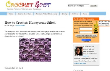 http://www.crochetspot.com/how-to-crochet-honeycomb-stitch/