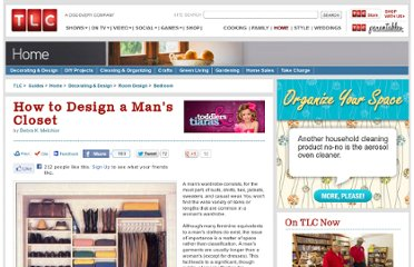 http://tlc.howstuffworks.com/home/how-to-design-a-mans-closet.htm