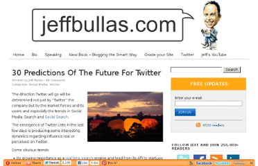 http://www.jeffbullas.com/2009/11/06/30-predictions-of-the-future-for-twitter/