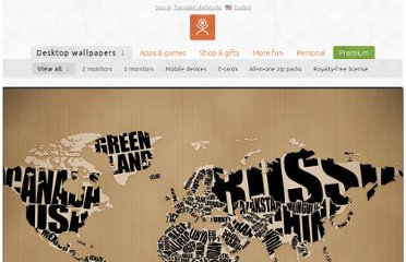 http://www.vladstudio.com/wallpaper/?typographic_world_map
