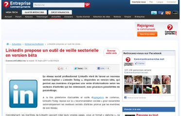 http://www.commentcamarche.net/news/5854505-linkedin-propose-un-outil-de-veille-sectorielle-en-version-beta