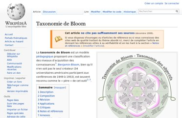 http://fr.wikipedia.org/wiki/Taxonomie_de_Bloom