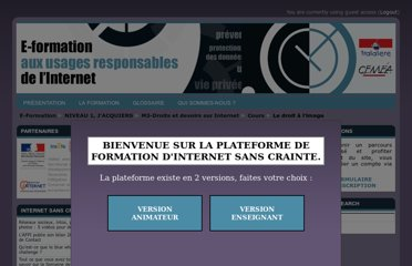 http://www.internetsanscrainte.fr/formation/course/view.php?id=9