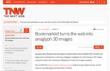http://thenextweb.com/dd/2011/03/15/bookmarklet-turns-the-web-into-anaglyph-3d-images/