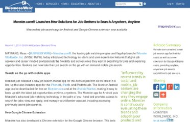 http://www.businesswire.com/news/home/20110311005042/en/Monster.com%C2%AE-Launches-Solutions-Job-Seekers-Search-Anytime