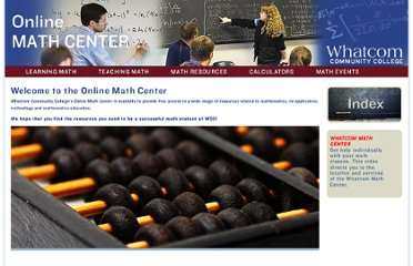 http://math.whatcom.ctc.edu/content/Links.phtml?cat=3