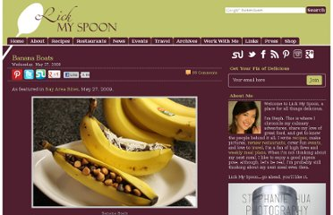 http://lickmyspoon.com/recipes/banana-boats/