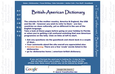 http://www.travelfurther.net/dictionaries/british-american.htm