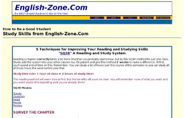http://english-zone.com/study/readtip.html