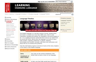 http://www.bl.uk/learning/langlit/changlang/across/languagetimeline.html