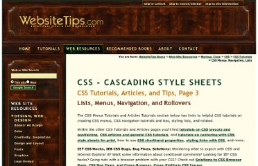 http://websitetips.com/css/tutorials/menus/