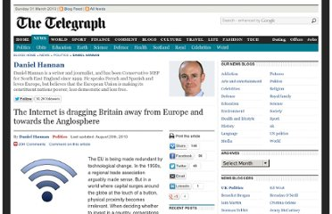 http://blogs.telegraph.co.uk/news/danielhannan/100051187/the-internet-is-gradually-reorienting-britain-away-from-europe-and-toward-the-anglosphere/