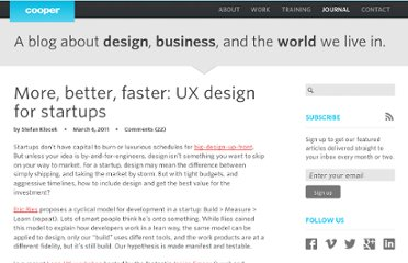 http://www.cooper.com/journal/2011/03/more_better_faster_ux_design.html