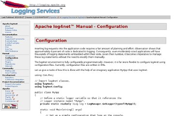 http://logging.apache.org/log4net/release/manual/configuration.html