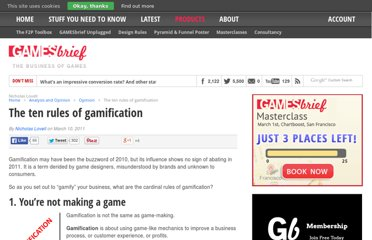 http://www.gamesbrief.com/2011/03/the-ten-rules-of-gamification/