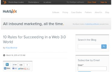 http://blog.hubspot.com/blog/tabid/6307/bid/10755/10-Rules-for-Succeeding-in-a-Web-3-0-World.aspx