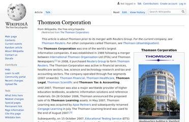 http://en.wikipedia.org/wiki/The_Thomson_Corporation