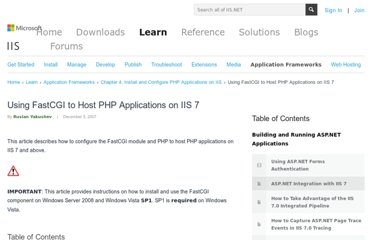 http://learn.iis.net/page.aspx/246/using-fastcgi-to-host-php-applications-on-iis-7/