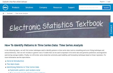 http://www.statsoft.com/textbook/time-series-analysis/
