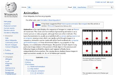 http://en.wikipedia.org/wiki/Animation