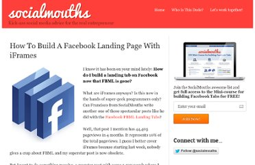 http://socialmouths.com/blog/2011/03/16/how-to-build-a-facebook-landing-page-with-iframes/