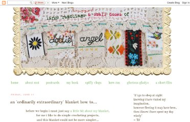 http://dottieangel.blogspot.com/2010/06/ordinarily-extraordinary-blanket-how-to.html
