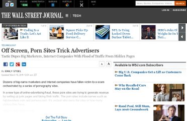 ... WSJ.com When a user visits one of these porn sites, the Web ...