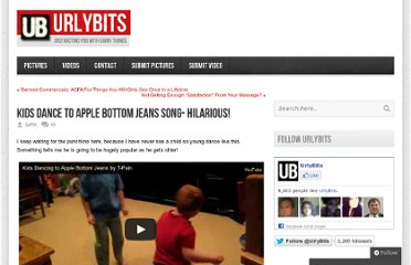http://urlybits.com/2009/08/kids-dance-to-apple-bottom-jeans-song-hilarious/