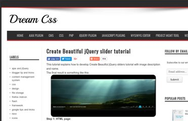 http://www.dreamcss.com/2009/04/create-beautiful-jquery-sliders.html