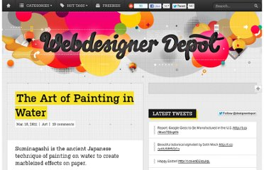 http://www.webdesignerdepot.com/2011/03/the-art-of-painting-in-water/