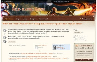 http://rpg.stackexchange.com/questions/2091/what-are-some-alternatives-to-using-miniatures-for-games-that-require-them