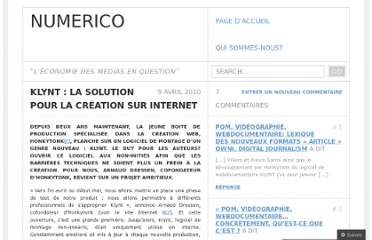 http://numerico.wordpress.com/2010/04/09/klynt-la-solution-pour-la-creation-sur-internet/