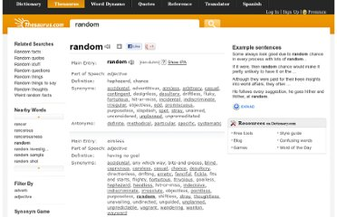 http://thesaurus.com/browse/random