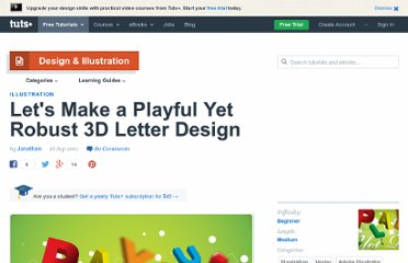 http://vector.tutsplus.com/tutorials/illustration/lets-make-a-playful-yet-robust-3d-letter-design/