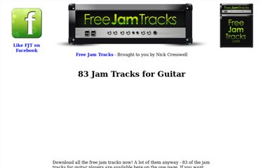 http://www.freejamtracks.com/83-jam-tracks-for-guitar.html