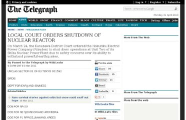 http://www.telegraph.co.uk/news/wikileaks-files/8383974/LOCAL-COURT-ORDERS-SHUTDOWN-OF-NUCLEAR-REACTOR.html