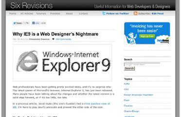http://sixrevisions.com/web_design/why-ie9-is-a-web-designers-nightmare/