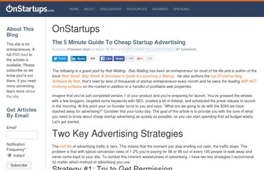 http://onstartups.com/tabid/3339/bid/43774/The-5-Minute-Guide-To-Cheap-Startup-Advertising.aspx