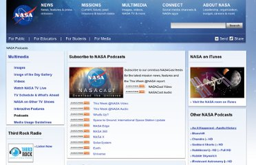 http://www.nasa.gov/multimedia/podcasting/index.html