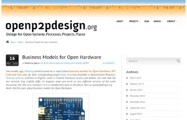 http://www.openp2pdesign.org/2011/open-design/business-models-for-open-hardware/
