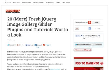 http://designbeep.com/2011/02/28/20-more-jquery-image-galleryslider-plugins-and-tutorials-worth-a-look/