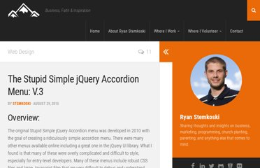 http://www.stemkoski.com/stupid-simple-jquery-accordion-menu/
