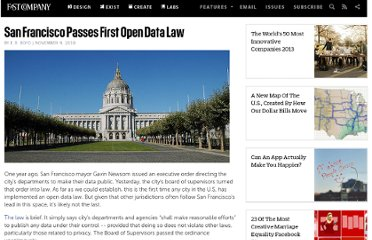 http://www.fastcompany.com/1701410/san-francisco-passes-first-open-data-law